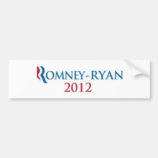 Romney/Ryan 2012 bumper sticker