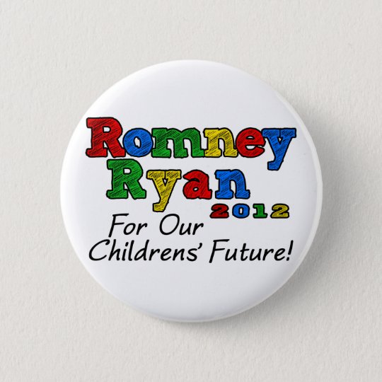 Romney/Ryan 2012, For our Childrens' Future 6 Cm Round Badge