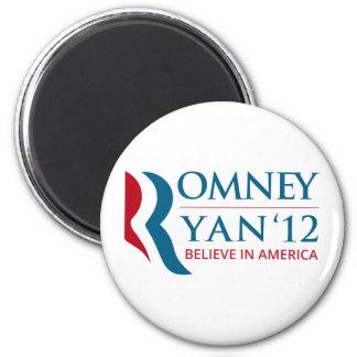 Romney / Ryan 2012 for US President and VP 6 Cm Round Magnet