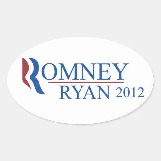 Romney Ryan 2012 Oval Sticker