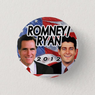 Romney Ryan 2012 Patriotic Photo Republican Button
