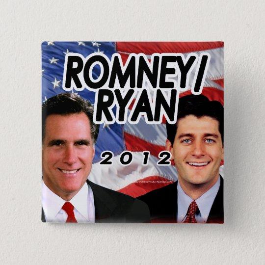 Romney Ryan 2012 Photo/Flag Button