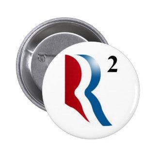 "Romney & Ryan 2012 - ""R squared"" 6 Cm Round Badge"