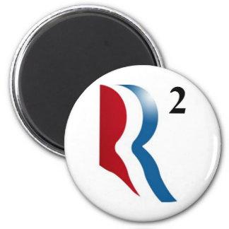 "Romney & Ryan 2012 - ""R squared"" 6 Cm Round Magnet"
