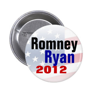 Romney Ryan 2012 Republican Button