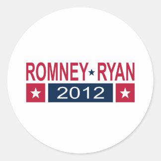 Romney Ryan 2012 Round Sticker