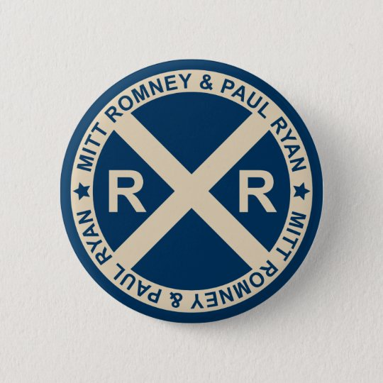 Romney Ryan American Crossroads Button