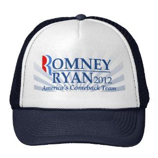 Romney Ryan, America's Comeback Team Mesh Hat