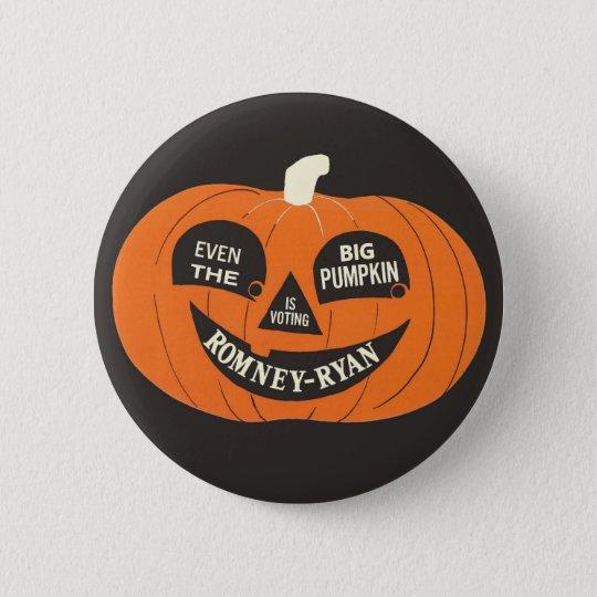 Romney - Ryan Big Pumpkin 6 Cm Round Badge