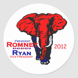 Romney Ryan Classic Round Sticker