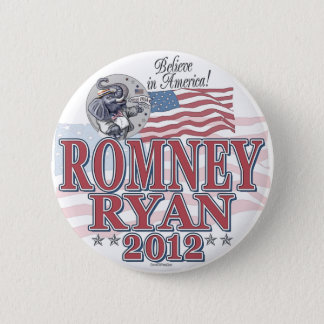 Romney Ryan GOP Ticket 6 Cm Round Badge