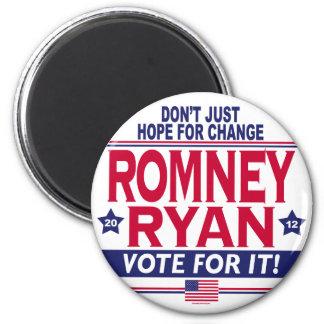 Romney Ryan Hope Change 6 Cm Round Magnet