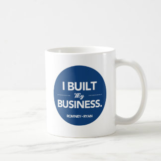 Romney Ryan I Built My Business (Blue) Coffee Mug