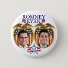 Romney Ryan Jugate 6 Cm Round Badge