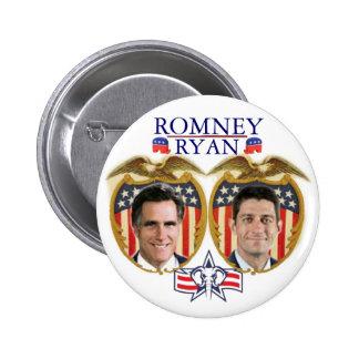 Romney Ryan Jugate 6 Cm Round Badge