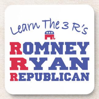Romney Ryan Learn the 3 R's Drink Coasters
