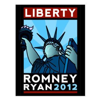 Romney Ryan Liberty Postcard