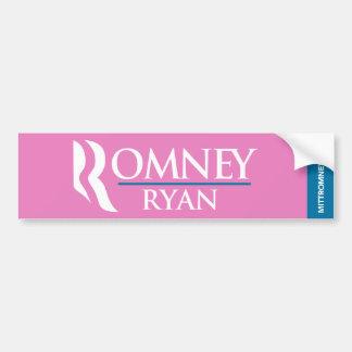 Romney Ryan Logo Bumper Sticker Pink