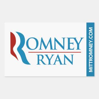 Romney Ryan Logo Sticker Rectangle White
