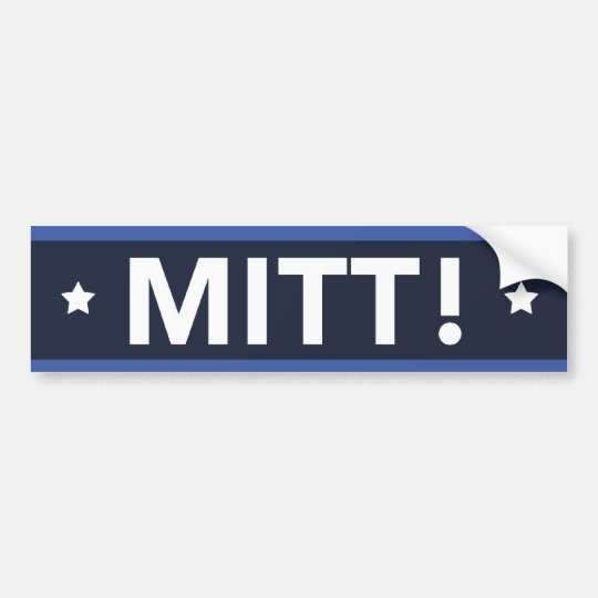 Romney Ryan MITT! Bumper Sticker (Dark Blue)