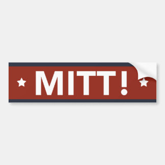 Romney Ryan MITT! Bumper Sticker (Red)