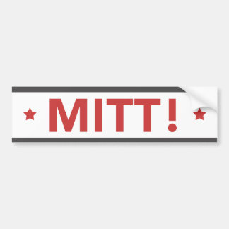 Romney Ryan MITT! Bumper Sticker White, Red, Grey