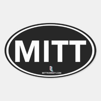 Romney Ryan MITT Sticker Oval (Black)