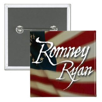 Romney Ryan, No Apologies 15 Cm Square Badge