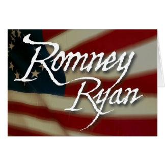Romney Ryan, No Apologies Note Card