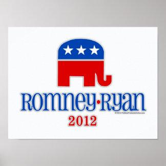 Romney/Ryan Patriot Elephant Poster
