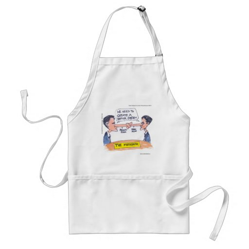 Romney Ryan Pinocchio Merger Funny Gifts & Tees Apron