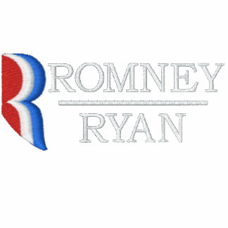 Romney Ryan R Embroidered Collar Shirt Embroidered Polo Shirt