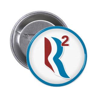 Romney Ryan R Squared Logo Round (White) 6 Cm Round Badge