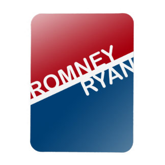 ROMNEY RYAN RETRO BLOCK.png Rectangular Photo Magnet