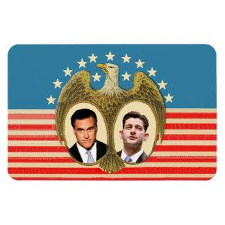 Romney Ryan Retro Rectangular Photo Magnet