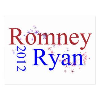 Romney Ryan Star Wave Postcard