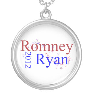 Romney/Ryan Star Wave Silver Plated Necklace
