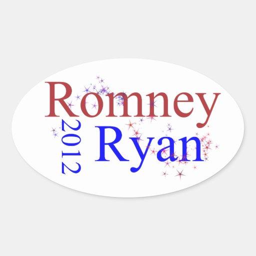 Romney/Ryan Star Wave Stickers
