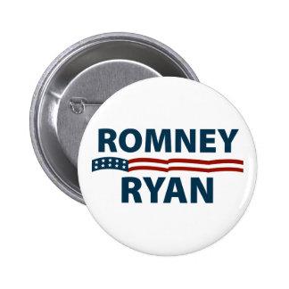 Romney Ryan Stars and Stripes 6 Cm Round Badge