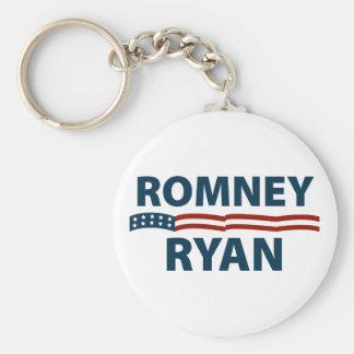 Romney Ryan Stars and Stripes Basic Round Button Key Ring