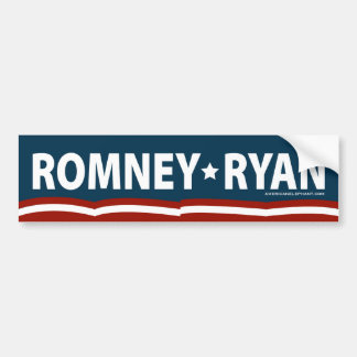 Romney-Ryan Stars and Stripes Bumper Sticker