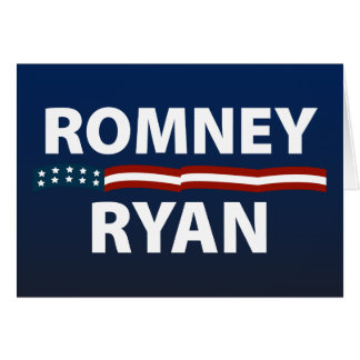 Romney Ryan Stars and Stripes Greeting Card