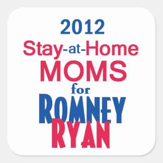 Romney Ryan Square Sticker