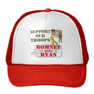 Romney Ryan Support our Troops Hat
