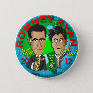 Romney Ryan USA 6 Cm Round Badge
