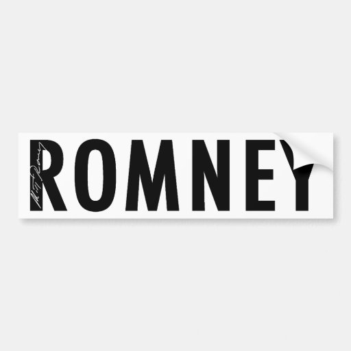Romney Signature Gear Bumper Stickers