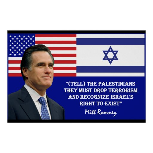Romney Talks Israel Posters