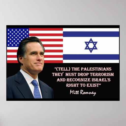Romney Talks Israel Poster