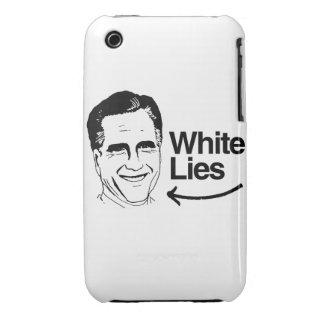 ROMNEY TELLS WHITE LIES iPhone 3 CASE