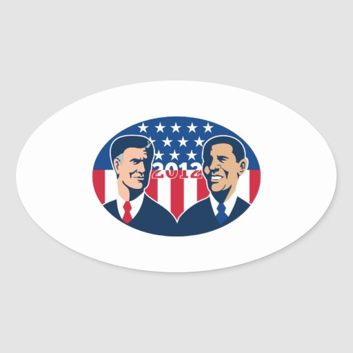 Romney Vs Obama American Elections 2012 Sticker